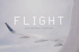 flight dot matrix typeface