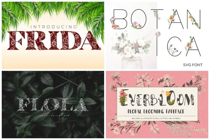 Flower Fonts min