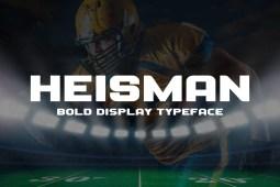 Heisman Typeface min
