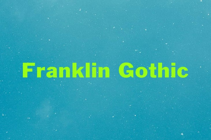 Franklin Gothic Typeface min