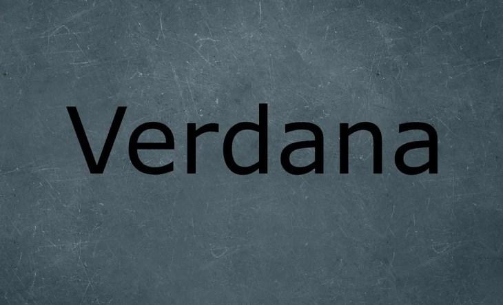 Verdana Sans Serif Typefaces 1 min