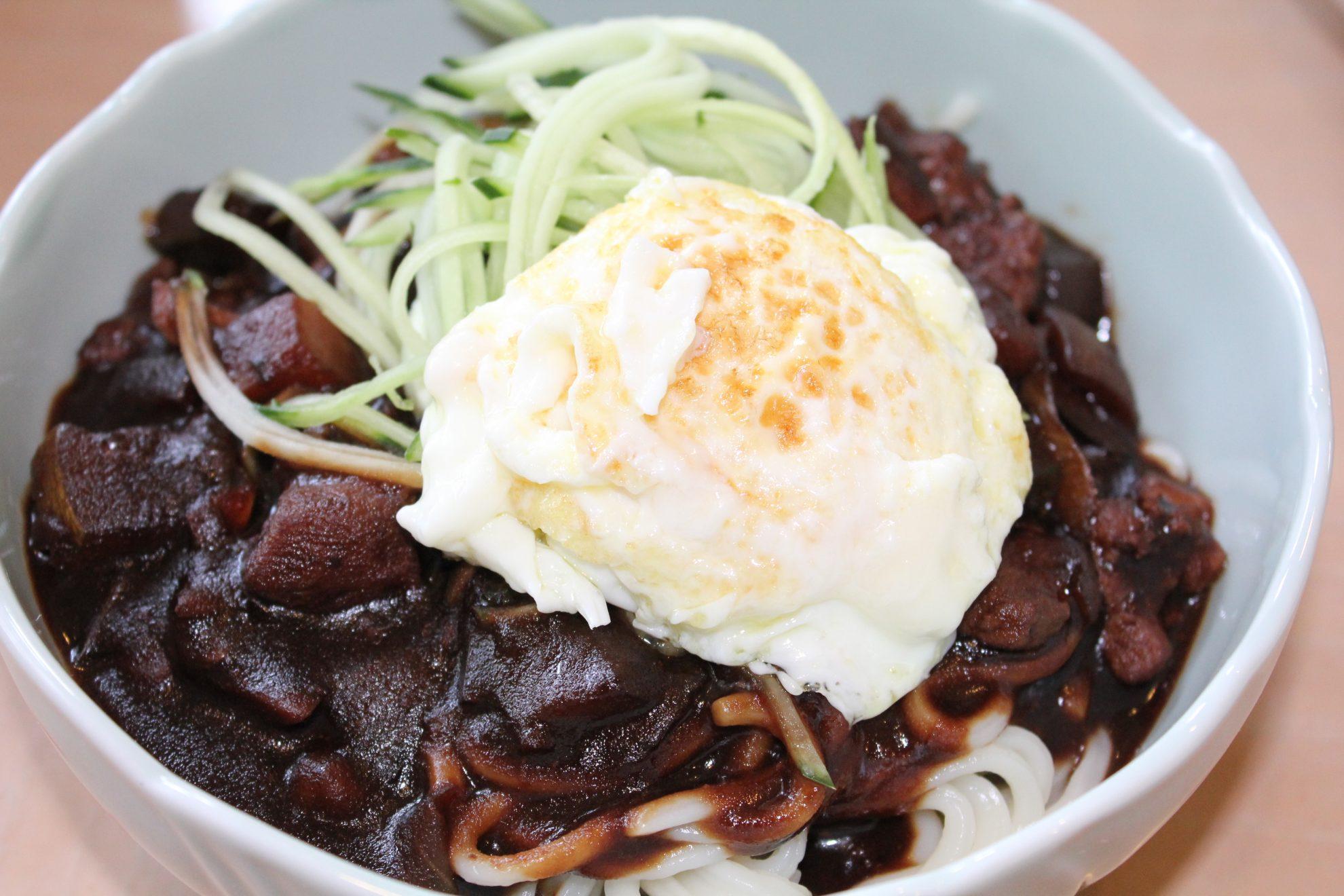Jajangmyeon: Korean Noodles with Black Bean Sauce