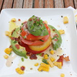 Tomato Tower Salad with Corn, Avocado & Bacon
