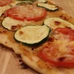 Hummus, Zucchini & Tomato Pizza