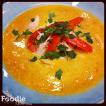 7 Minute Soup! Creamy Red Bell Pepper & Chickpea Soup