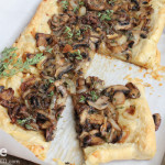 Mushroom Tart with Caramelized Onions and Thyme