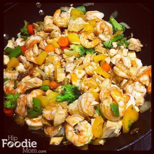 Delicious Shrimp And Chicken Stir Fry Recipe Hip Foodie Mom