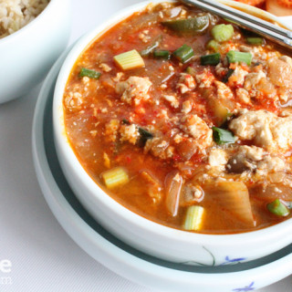Korean Soft Tofu soup soondubu jjigae