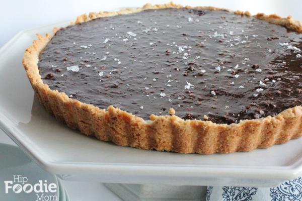 Chocolate Hazelnut Tart by Hip Foodie Mom