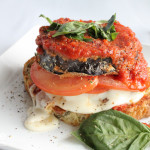 Eggplant Caprese Sandwich!!! A new and delicious spin on a traditional caprese salad!!! Grab in season eggplant while you can and make this!
