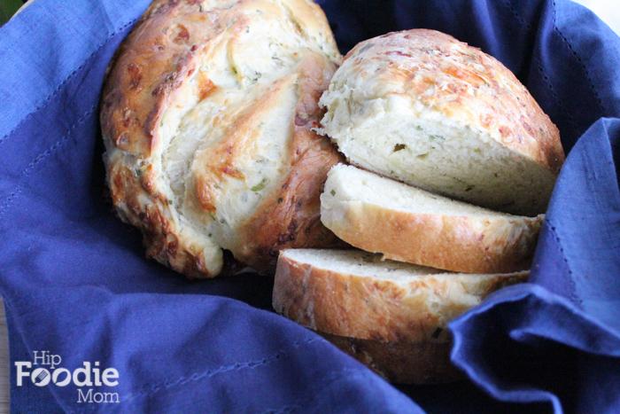 cheddar chive bread | hip foodie mom_basket