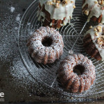 Mini Pineapple Bundt Cakes with White Chocolate Ganache for #BundtaMonth