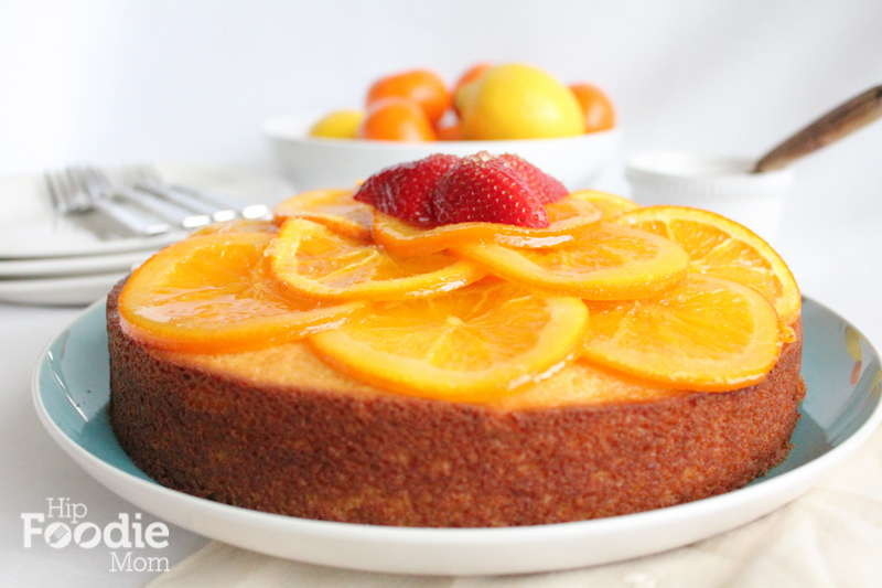 Olive Oil Cake with Candied Orange Marmalade!! Bright, delicious and the cake has a great delicate flavor! The olive oil cake is balanced so well with the Candied Orange Marmalade, you have to try this!