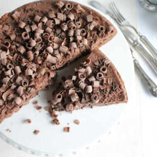 Chocolate Cheesecake Decadence. Chocolate graham cracker crust, chocolate cheesecake filling with chocolate sprinkles!