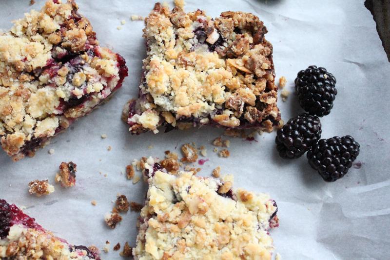 blueberry crumble granola bars | HipFoodieMom.com