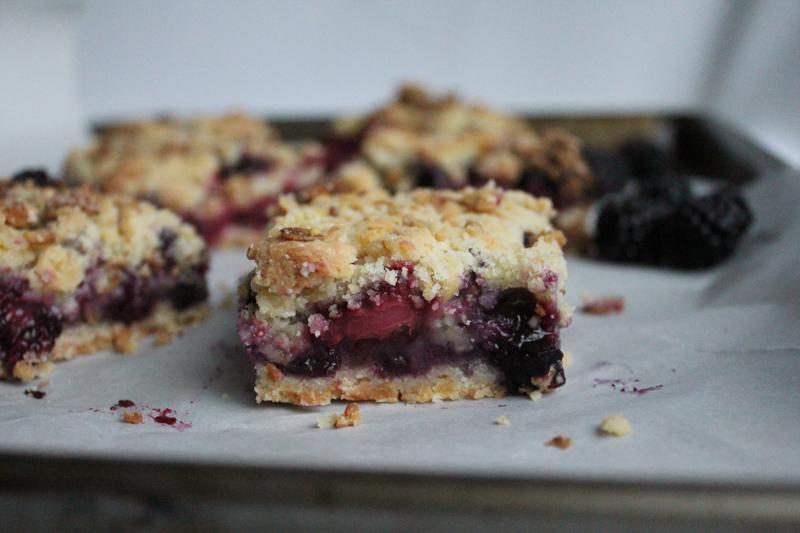 blueberry crumble granola bars inside | HipFoodieMom.com