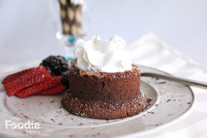 chocolate lava cake pre chocolate shavings | Hipfoodiemom.com