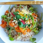 Fresh Asian Noodle Bowl for #WeekdaySupper