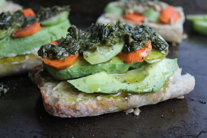 Avocado Toast with Chimichurri | HipFoodieMom.com