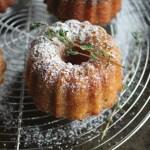 Olive Oil Thyme Mini Bundt Cakes