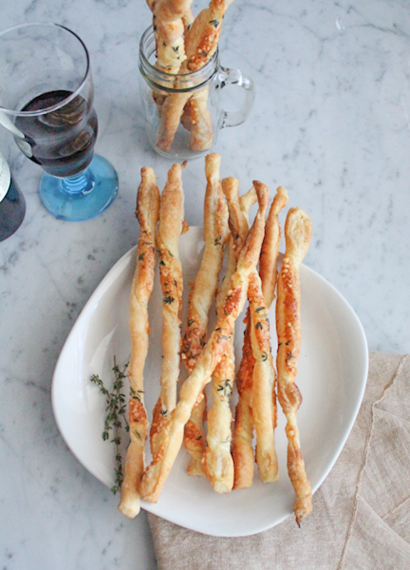 So easy to make!! Parmesan Crisp Twirls with Thyme! Serve these at your next brunch!