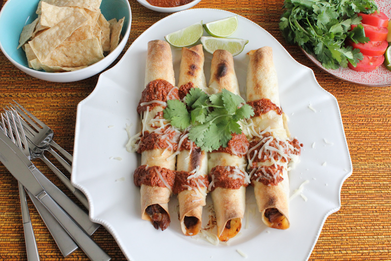 Pork Taquitos with Chocolate Mole | HipFoodieMom.com