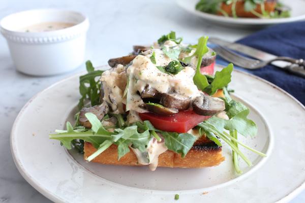Mushroom_Lettuce_Tomato Toast w Rémoulade2 | HipFoodieMom.com