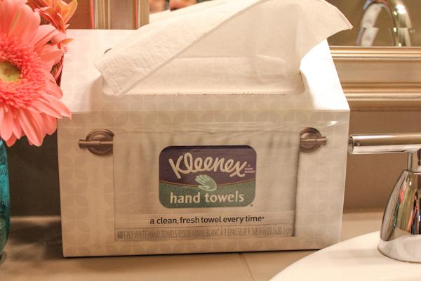 kleenex hand towels_sink_closeup | HipFoodieMom.com