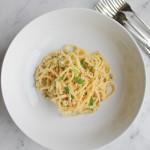 Spaghetti with Cauliflower Pesto
