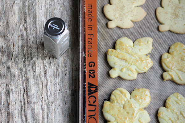 Orange Cut Out Cookies with Orange Cardamom Icing | HipFoodieMom.com