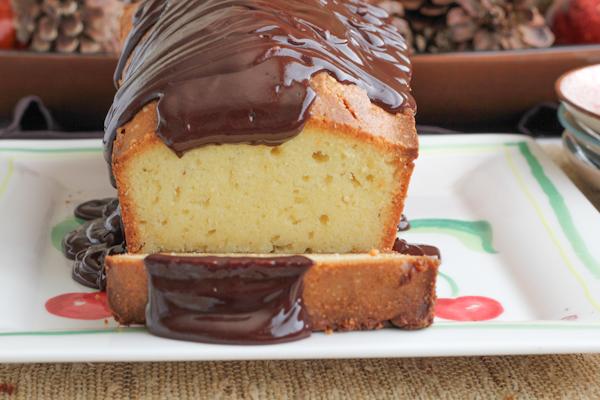 Pound Cake with Chocolate Ganache2 | HipFoodieMom.com