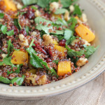 Red Quinoa Butternut Squash Kale Salad