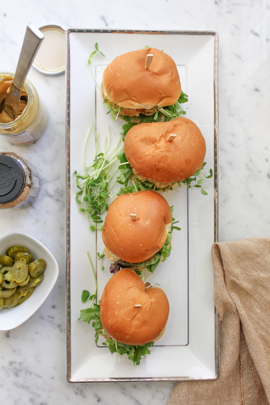 A mixture of ground pork and chicken, mixed with delicious Asian flavors and topped with fresh greens on a mini brioche bun. Try these Asian Patty Sliders!