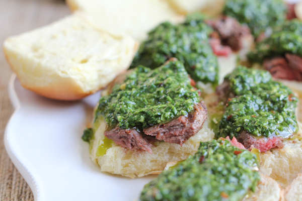 Grilled Steak Sliders with Chimichurri Sauce . . Amazing!! You have to try this! #yum