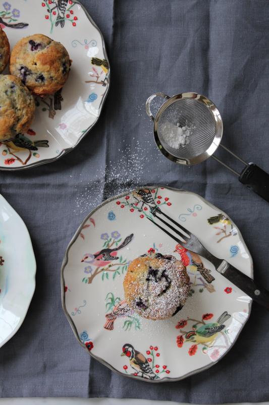 Lemon Blueberry Muffins_onplate_vertical2 | HipFoodieMom.com