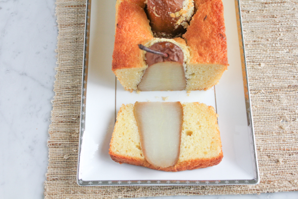 Delicious and impressive Poached Pear Olive Oil Bread. Delicate and light in flavor and still amazing! Impress your family and friends with this beauty!