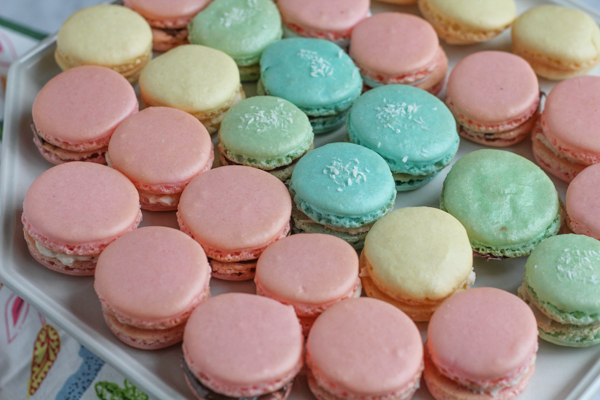 Light, beautiful and made for springtime, these pastel inspired french macarons are a delightful treat! Follow my tips and you can make french macarons!