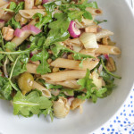 Arugula and Artichoke Pasta Salad for #PompeianVarietals