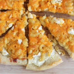 Three Cheese Mac and Cheese Pizza + @WisconsinCheese Giveaway!