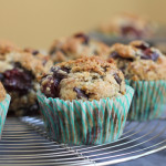 Cherry Chocolate Hazelnut Muffins for #TwelveLoaves