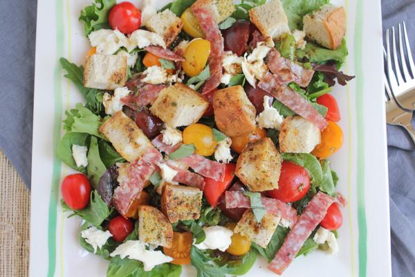 Hip Foodie Mom | Panzanella Salad with Salami_main