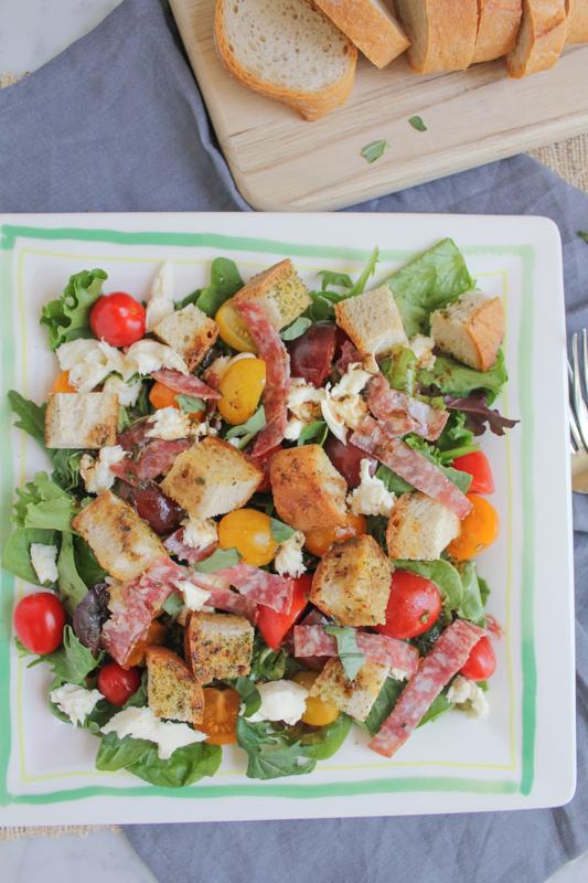 Hip Foodie Mom | Panzanella Salad with Salami_main_vert