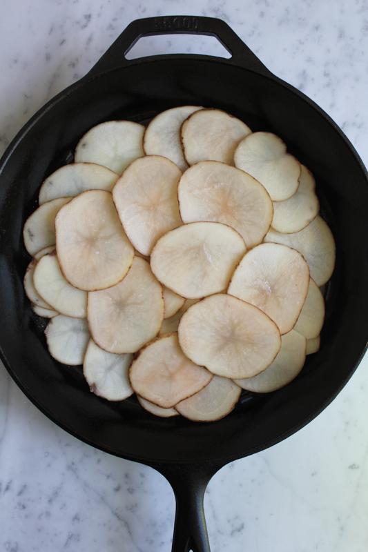Scalloped Potatoes in pan