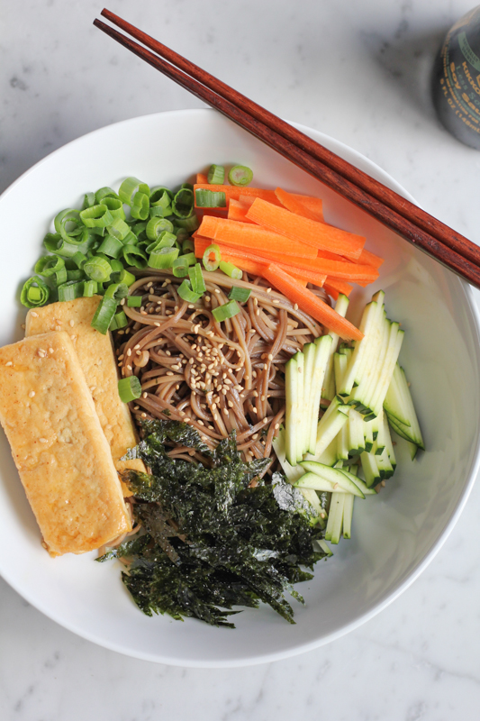 Soba Noodles with Extra Crispy Tofu!!! The perfect dish for a quick Asian meal. This one is one of my favorites!