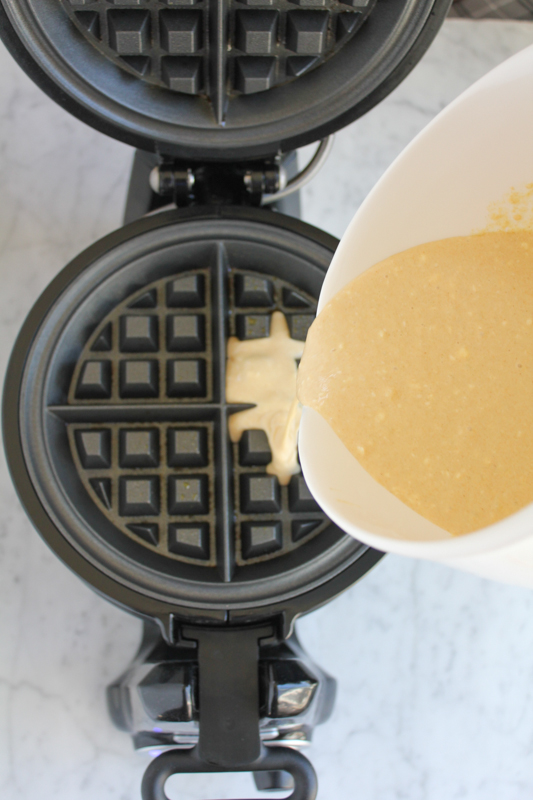 waffle batter_prep_pouring