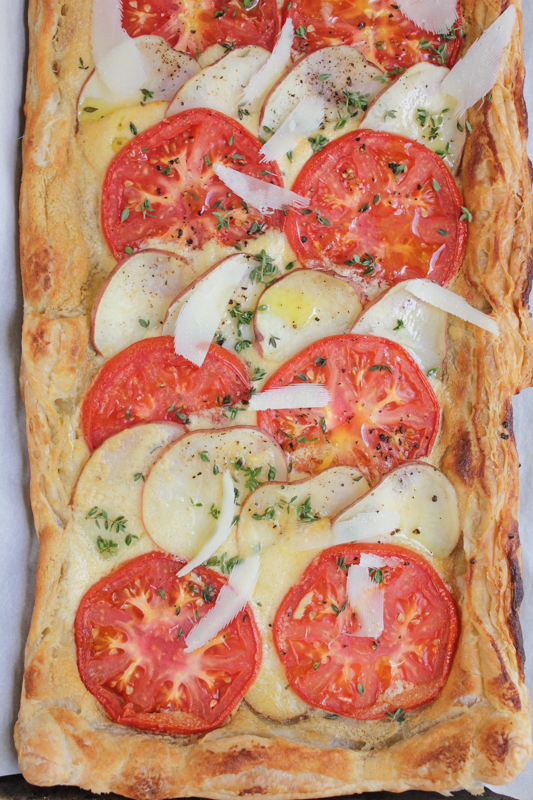 Hip Foodie Mom | Summer Potato and Tomato Tart_vert