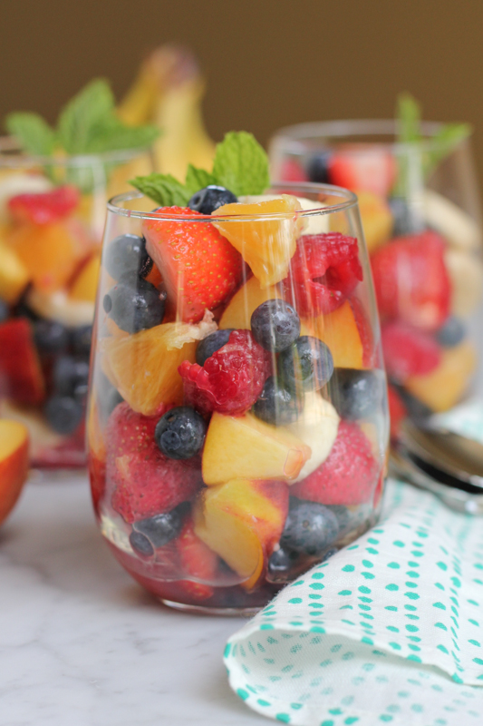 Simple Fruit Salad Cups_close up by Hip Foodie Mom