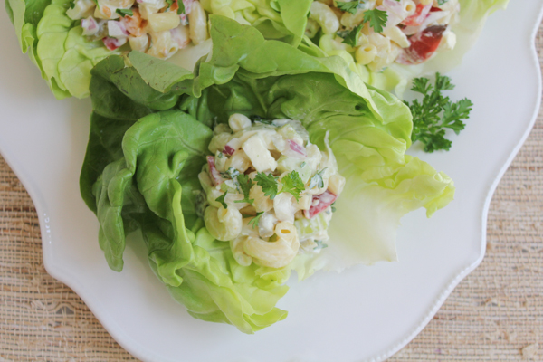 Mac and Cheese Lettuce Cups2