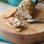 Nutty Olive Cheese Log!! The most delicious and easy cheese log for the holidays! So easy to make and delicious!