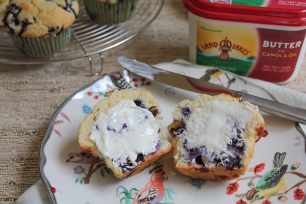 Blueberry Muffins with LAND O LAKES Butter2